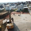 Bodenplatten Bereich fertig (Ost Blick)