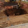Beim Ausgraben der Grube für die Zisterne