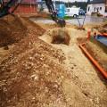 Ausgraben Abwasser